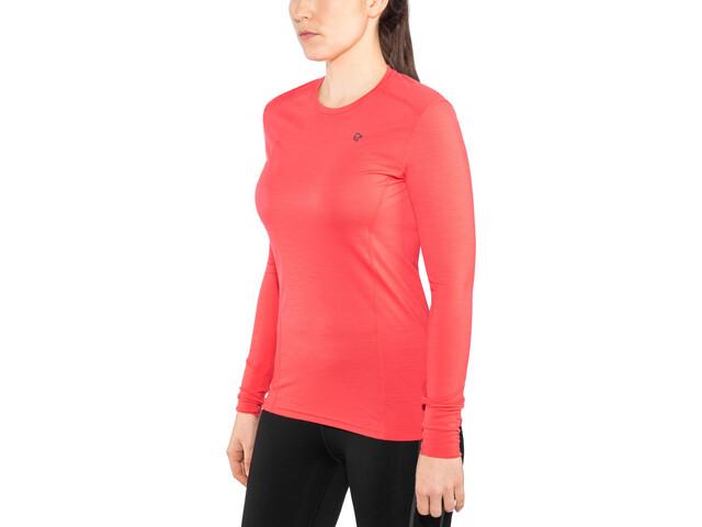 Norrøna Wool Round Neck Shirt Damen crisp ruby